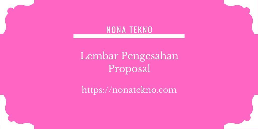 Contoh Lembar Pengesahan Proposal