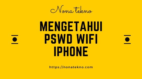 cara mengetahui password wifi di iphone